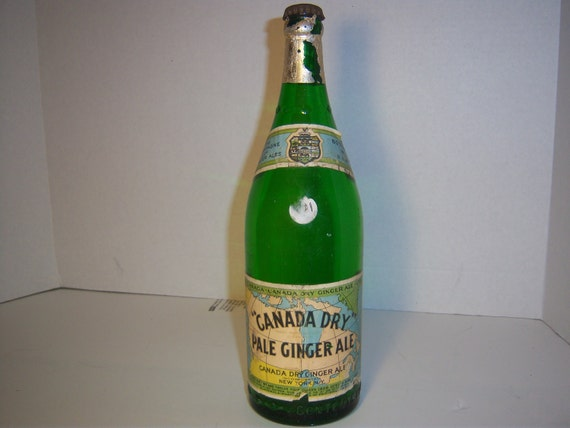 1920 S Canada Dry Ginger Ale Ny Qt Soda Bottles With