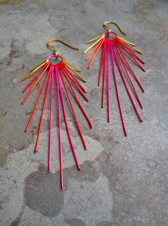 Vibrant Sunburst Earrings