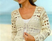 Pattern only - a crochet spring/summer/fall cardigan