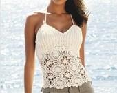 Crochet spring/summer/fall vest/tank tops - MADE TO ORDER