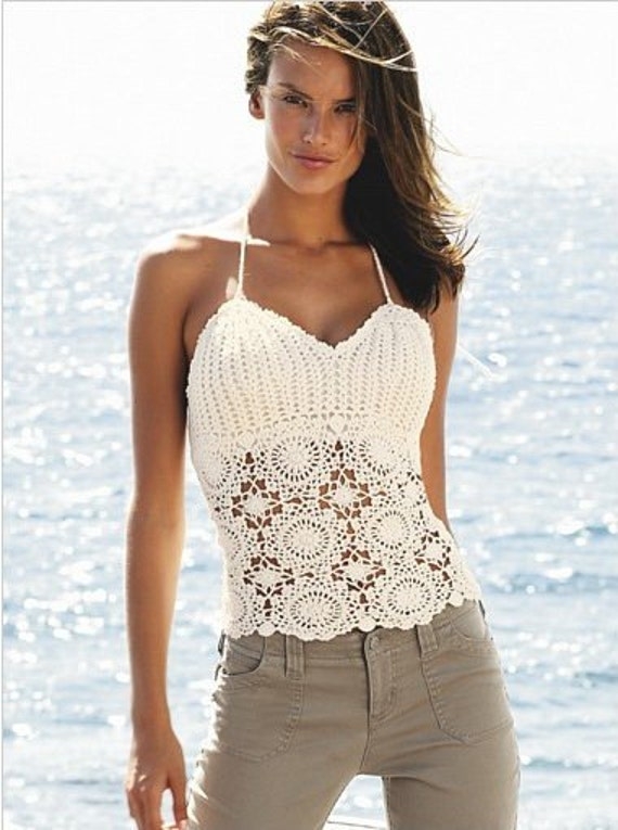 Crochet spring/summer/fall vest/tank top - MADE TO ORDER