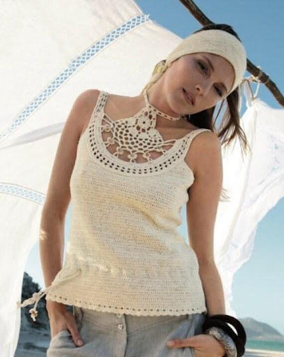 Crochet summer/spring/fall vest/tank top - MADE TO ORDER