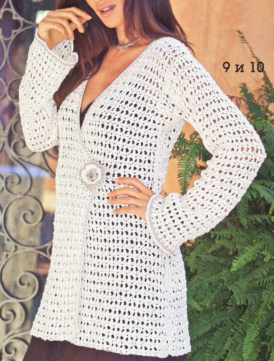 Pattern only a crochet spring/summer/fall long cardigan by ...
