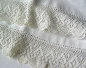 Crochet Edge Pillow Case