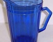 Hazel Atlas Cobalt Blue AURORA Depression Glass 4 1/2 Inch CREAMER