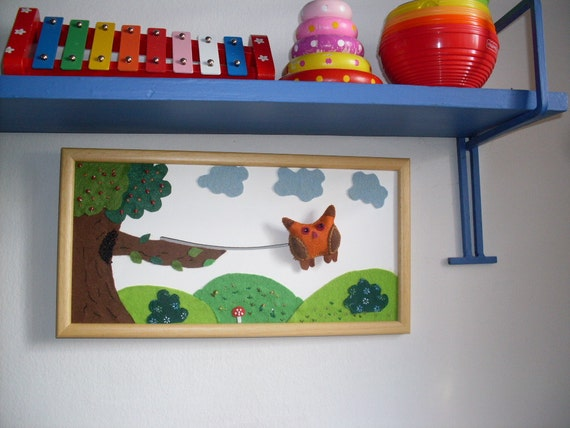 Akotales story telling picture, educational toy and picture, Handmade original wall decor picture, moving picture