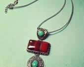 Vintage heavy stone necklace