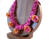 Pink Statement Necklace - Mexican Fabrics