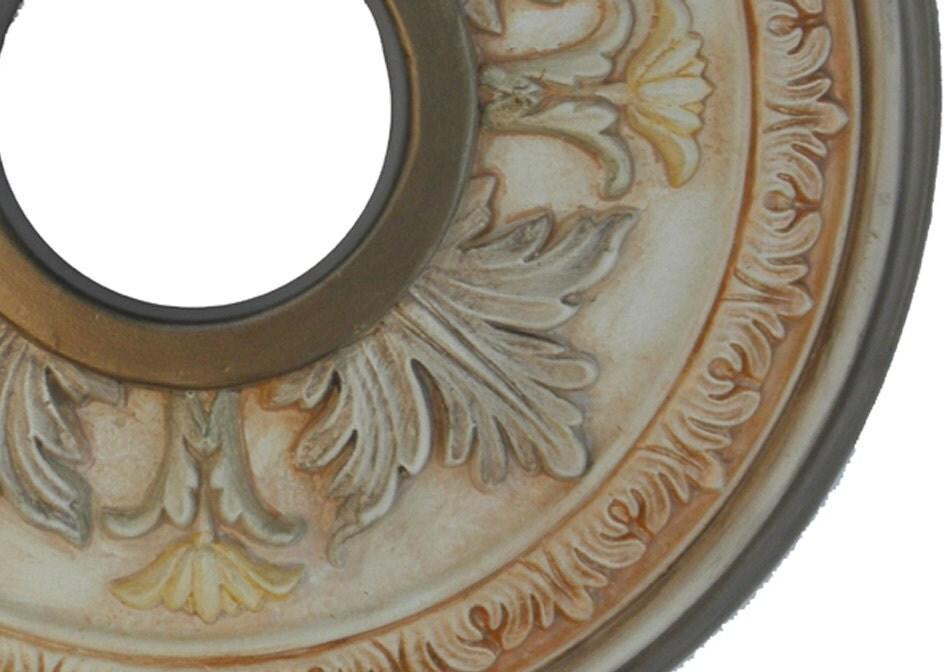 Ceiling Medallion Elegancia Hand Painted In Bronze Metallics