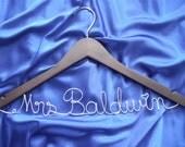 Personalized hanger/ Bride Hanger/ Wedding Hanger/wire hanger/ wooden hanger/custom hanger / wedding photo