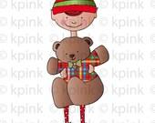 Bear Huge Elf-Digi Stamp