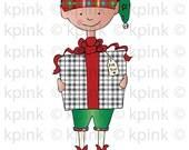 Gift Elf - I Dig Digi Stamp