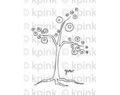 Grow Tree - I Dig Digi Stamp