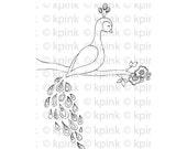 Peacock - I Dig Digi Stamp