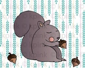 Squirrel - I Dig Digi Stamp