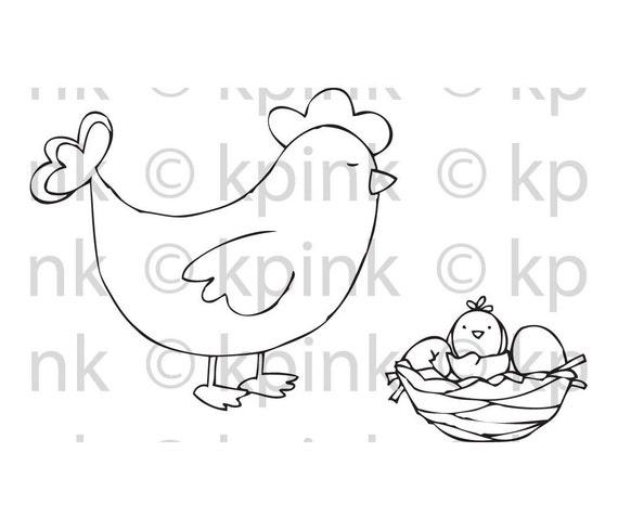 Mommy Chick - I Dig Digi Stamp