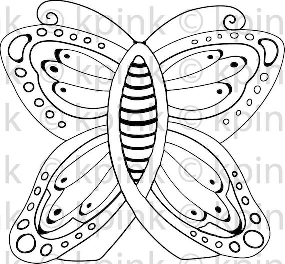 Ribbon Butterfly - I Dig Digi Stamp