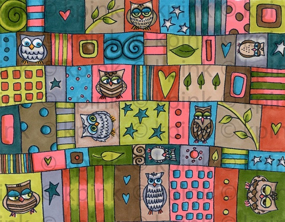 Owl Patches - I Dig Digi Stamp