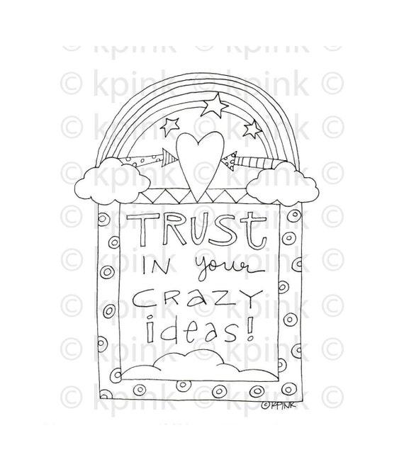 Trust Your Ideas - I Dig Digi Stamp