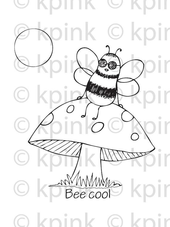 Bee Cool -  I Dig Digi Stamp