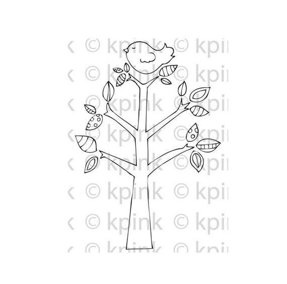 Tree Top - I Dig Digi Stamp