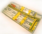 Glass Tray with mid-century graphic Map of NYC 1930's  (7.5 x 3.5 in)