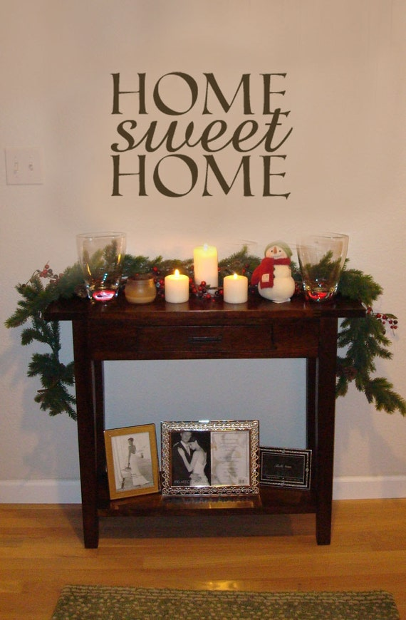 Items similar to home sweet home vinyl wall art decak on etsy Home sweet home wall decor