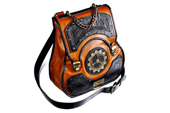 The Last Keeper men's leather steampunk bag