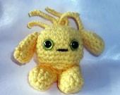Crochet amigurumi alien yellow  monster baby