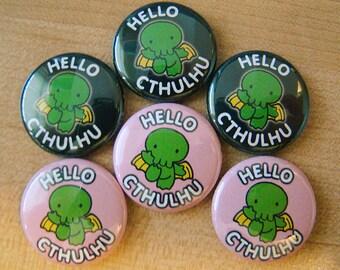 Hello Cthulhu pin - 666 Pack