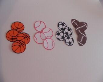 Basketball, Baseball, Soccer, Football Die Cuts