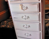 Refurbished, painted and distressed Ethan Allen Lingerie chest...on wheels
