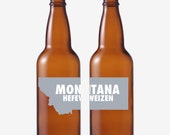 50 Montana Beer Bottle Labels -- Choose Your Brew