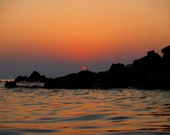 Sunset photo in Greece - Archangelos by the sea 2 (Peloponnisos)