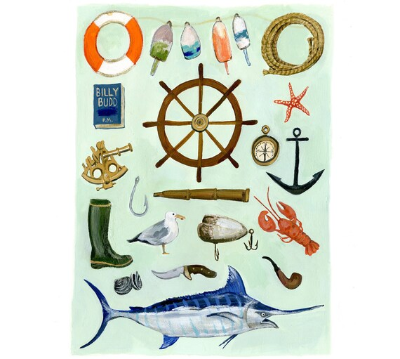 Summer Nantucket Fishing Print
