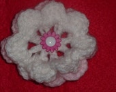 Lovely crochet flower brooch
