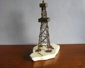 Vintage Oil Rig Sculpture