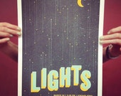 LIGHTS Screenprinted Gig Poster