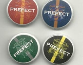 "Set of 4 Harry Potter House Prefect 1"" Pinback buttons"