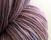 Hand Dyed Yarn, sock weight superwash merino wool, light purple yarn