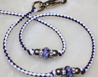 Kangaroo lead purple and white 45 inches