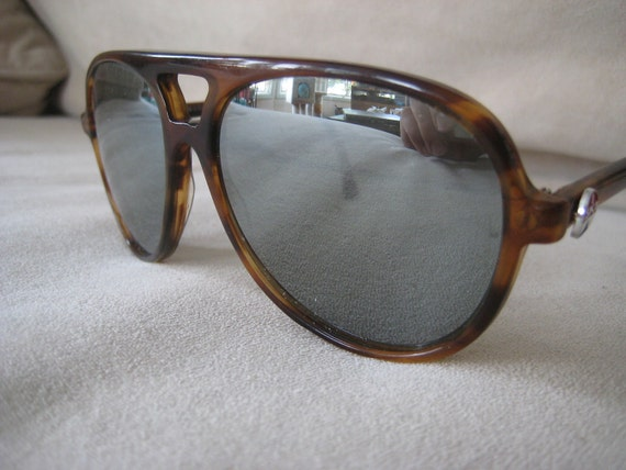 Awesome ISKI  Tortoise Shell Aviator Sunglasses mirrored lenses hand made USA 1980's