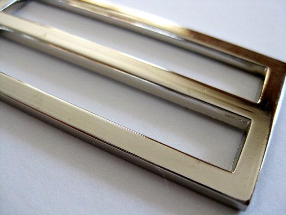 Slider 2 Inch Flat Alloy Nickel (Set of 2 Pieces)