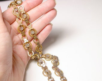 Victorian Gold Filled Necklace - 19.5 Inches long - 1890's - Pocket Watch Chain Necklace # 369
