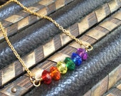 PRIDE // crystal rainbow necklace