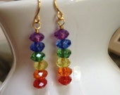 PRIDE // crystal rainbow earrings