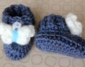Crochet Butterfly Booties