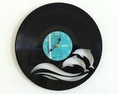 Handmade Vinyl Record Clock - Dolphins