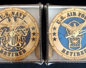 Air Force & Navy Laser Cut Decorative Wall or Desk Clock