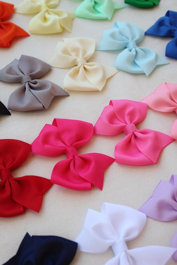 Girls hair bows - set of 8 - toddler hair bows - 1.00 hair bows -little girls hair bows - everyday use - You can choose colors